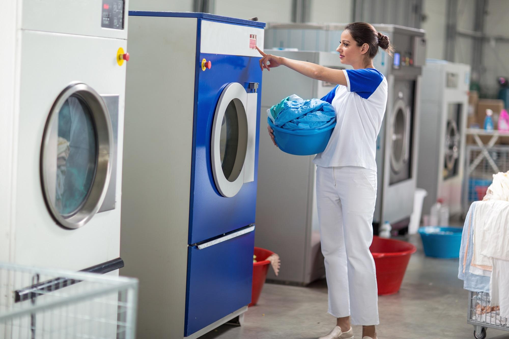 Employees including washing machines